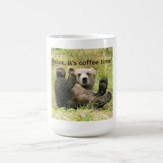 Coutume brune mignonne de photo de petit animal mug