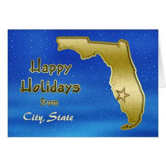 Coutume cosmique de carte de la Floride de ciel