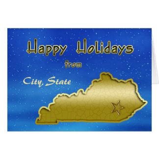 Coutume cosmique de carte du Kentucky de ciel bleu