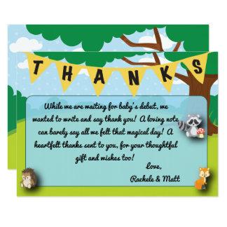 Coutume de carte de remerciements de baby shower