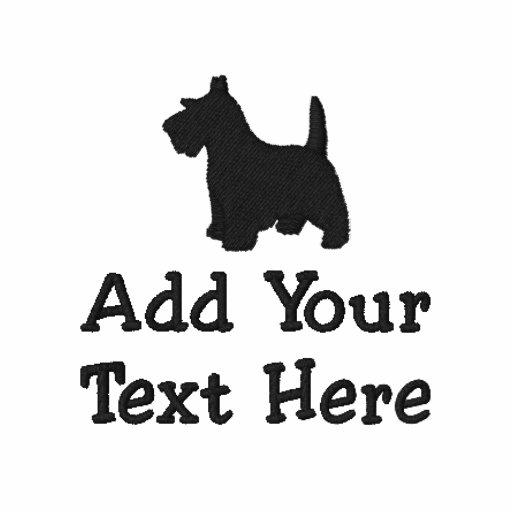 Coutume de chien de Terrier d'écossais personnalis Polo Avec Broderie