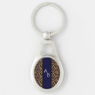 Coutume de motif de léopard décorée d un porte-clef