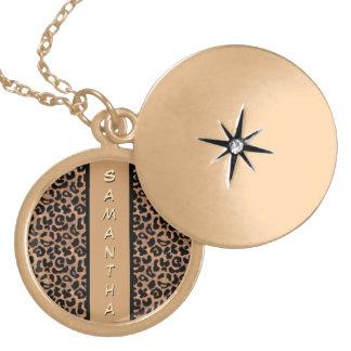 Coutume de motif de léopard personnalisée pendentifs