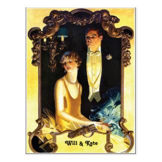 coutume de Nouveau d'art des années 1920 formelle Carte Postale