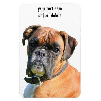 Coutume de portrait de photo de chien de boxeur be magnets souples