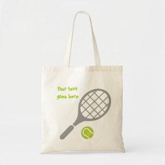 Coutume de raquette et de boule de tennis sacs