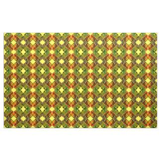 Coutume de toile de noir de vert jaune de tissu