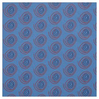 Coutume de toile de rouge bleu de tissu