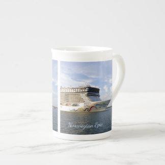 Coutume décorée d'arc de bateau de croisière mug