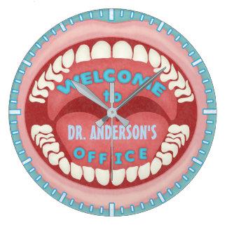 Coutume dentaire des dents | de bouche de grande horloge ronde
