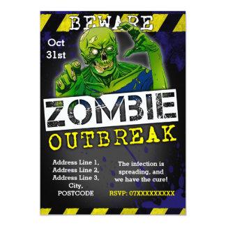 Coutume d'invitation de partie de Halloween de Carton D'invitation 12,7 Cm X 17,78 Cm