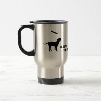 Coutume drôle d'humour de bâton d'effort de chien mug de voyage