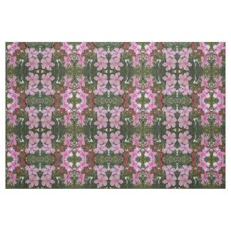 Coutume géométrique florale de tissu de vert de