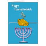 Coutume humoristique de Thanksgivukkah Cartes
