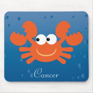 Coutume mignonne de signe de zodiaque de crabe de tapis de souris