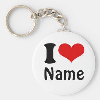Coutume personnalisable de coeur d amour du jour d porte-clefs