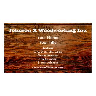Coutume personnalisée par planche en bois huilée p carte de visite