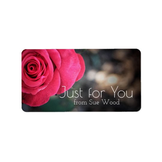 Coutume rose élégante juste pour vous étiquettes
