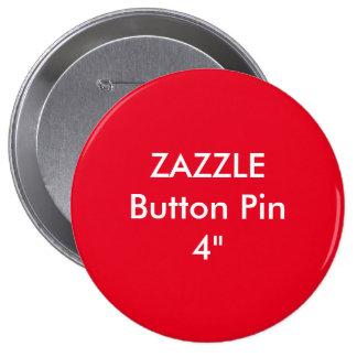 """Coutume vide 4"""" de Zazzle ROUGE énorme de Pin de Badges"""