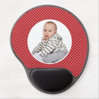 Coutume votre mousepad mignon de bébé et de pois d tapis de souris en gel