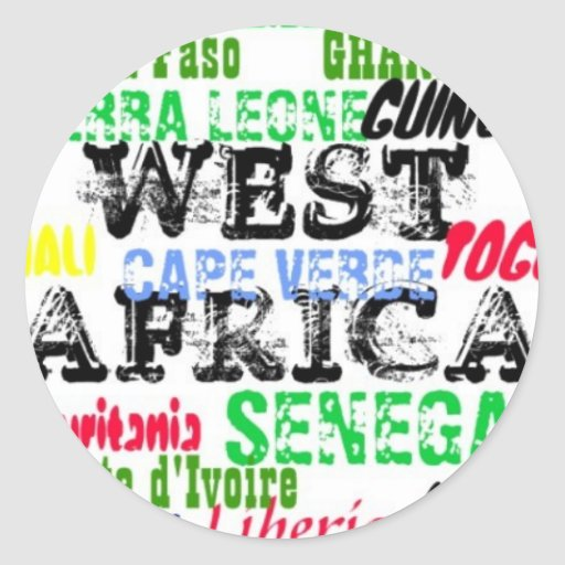 Coutume W.Africa Apparell d'Africankoko Autocollant Rond