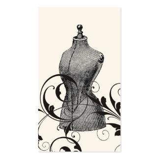 Couture élégante vintage simple de mode de carte de visite standard