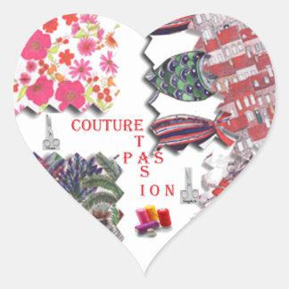 COUTURE ET PASSION.png Sticker Cœur