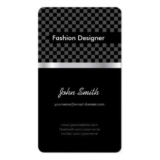 Couturier - échiquier noir élégant modèles de cartes de visite