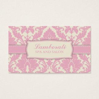 Couturier élégant de motif floral de damassé cartes de visite