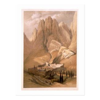 Couvent de St Catherine avec le bâti Horeb, Februa Cartes Postales