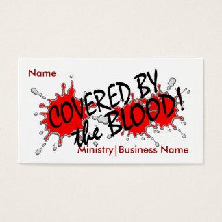 Couvert par la carte d'affaires/ministère de sang