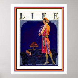 Couverture 1922 de la vie d'art déco Coles