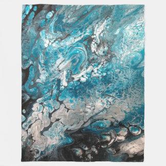 Couverture abstraite bleue et noire audacieuse