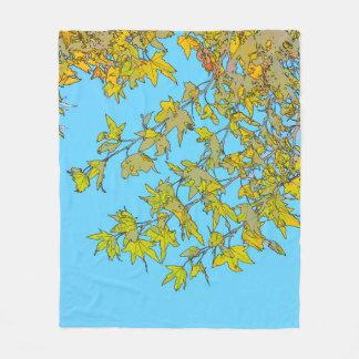 Couverture abstraite d'ouatine de feuille