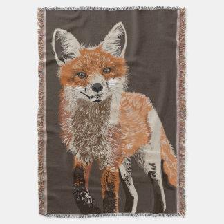 Couverture adorable de jet de peinture de Fox