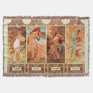 Couverture Alphonse Mucha art Nouveau de quatre saisons
