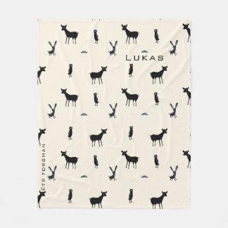 Couverture animale d'amis de forêt de silhouette
