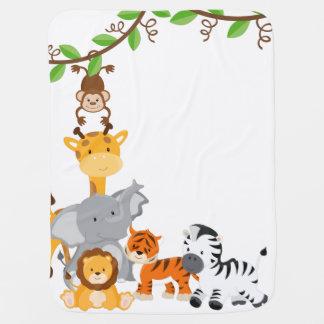 Couverture animale de bébé de bébé mignon de couverture de bébé