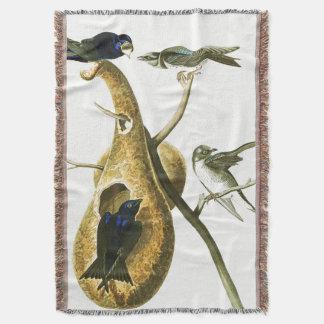 Couverture animale de jet de faune d'oiseaux