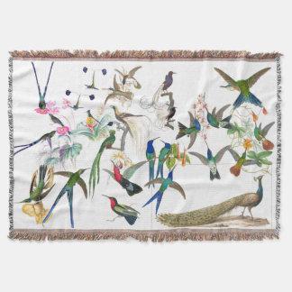 Couverture animale de jet d'oiseaux de faune