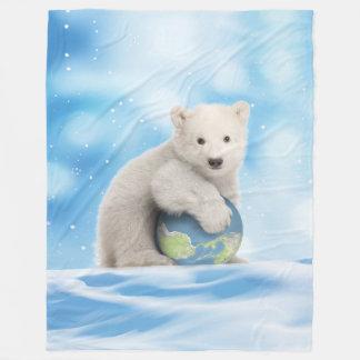 Couverture arctique du monde d'ours blanc