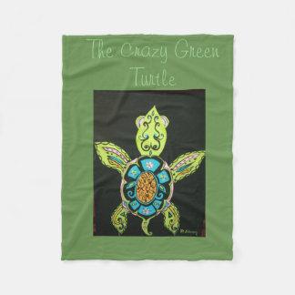 Couverture avec l'image d'une tortue colorée