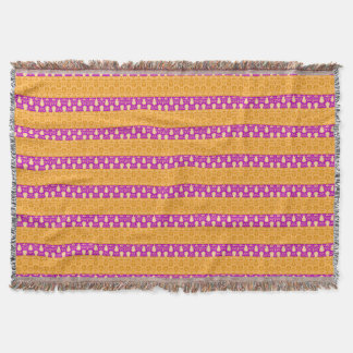 Couverture Avril Showers_Mod-Stripes-Yellow-Pink-Blankets