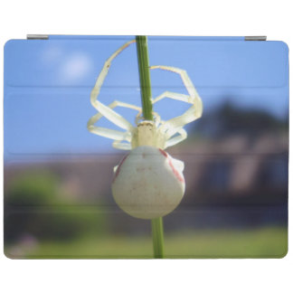 Couverture blanche d'iPad d'araignée de crabe Protection iPad