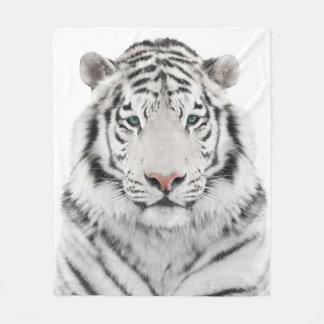 Couverture blanche d'ouatine de tête de tigre