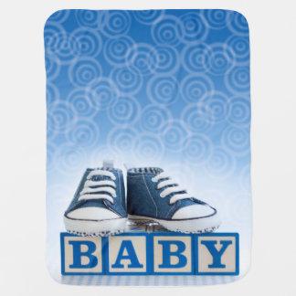 Couverture bleue de bébé couverture de bébé