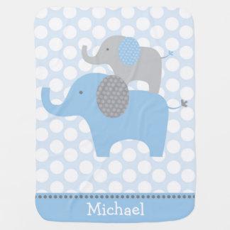 Couverture bleue de bébé d'éléphant couverture de bébé