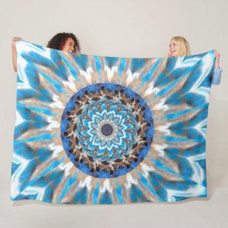 Couverture bleue d'ouatine de kaléidoscope