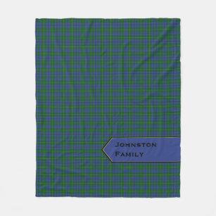 Couverture bleue et verte d'ouatine de plaid de