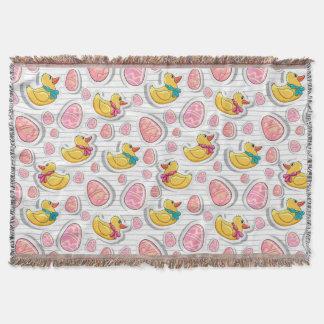 Couverture Canard de Pâques et motif d'oeufs